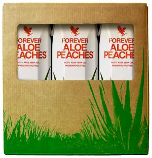 Miąższ Aloe Vera z sokiem z brzoskwiń Forever Aloe Peaches Trójpak